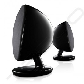 KEF EGG 2.0 Wireless Bluetooth Desktop Bookshelf Speaker System - Black