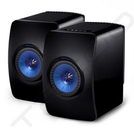 KEF LS50W 2.0 Wireless Bluetooth Desktop Bookshelf Speaker System - Black