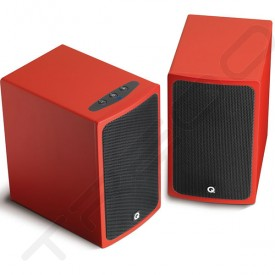 Q Acoustics Q-Media BT3 Bluetooth Powered Bookshelf 2.0 Speaker System - Red