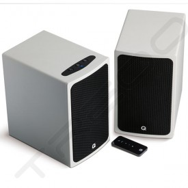 Q Acoustics Q-Media BT3 Bluetooth Powered Bookshelf 2.0 Speaker System - White