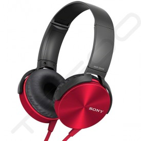 Sony MDR-XB450AP On-Ear Headphone with Mic - Red