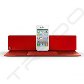 SoundFreaq Sound Step Recharge SFQ-02 Wireless Bluetooth Dock 2.1 Speaker System - Red