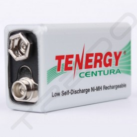 Tenergy Centura 9V 200mAh Ni-MH Rechargeable Battery