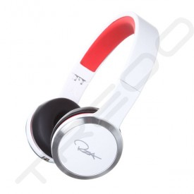 WeSC Chambers by RZA Street Noise-Cancelling On-Ear Headphone with Mic - White/Red