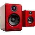 Audioengine A2+ Bookshelf 2.0 Wireless Bluetooth Speaker System - Hi-Gloss Red