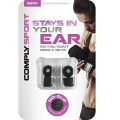 Comply Sport S-500 Foam Eartips (Medium 2-Pairs) - Black_2