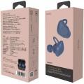 Nuarl NT01L Stereo True Wireless Bluetooth In-Ear Earphone with Mic - Navy Blue