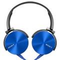 Sony MDR-XB450AP On-Ear Headphone with Mic - Blue