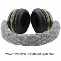 Woven Woollen Headband Protector (Grey)